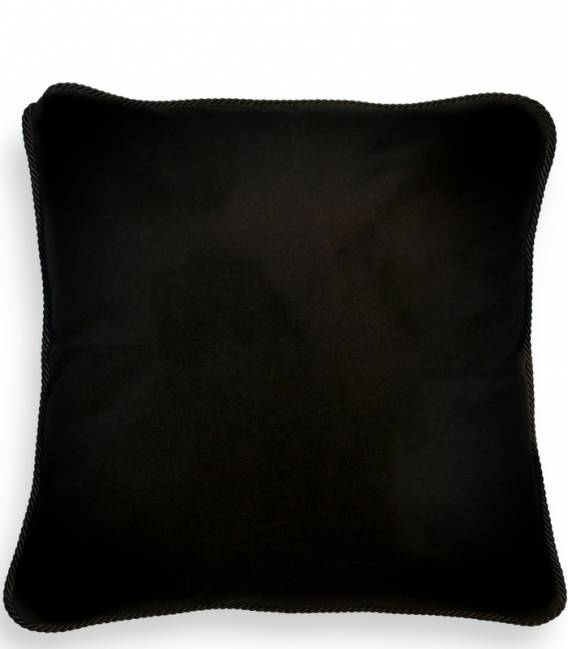 Skunk print silk and velvet cushion