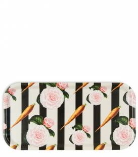 Carrots and roses birch wood tray