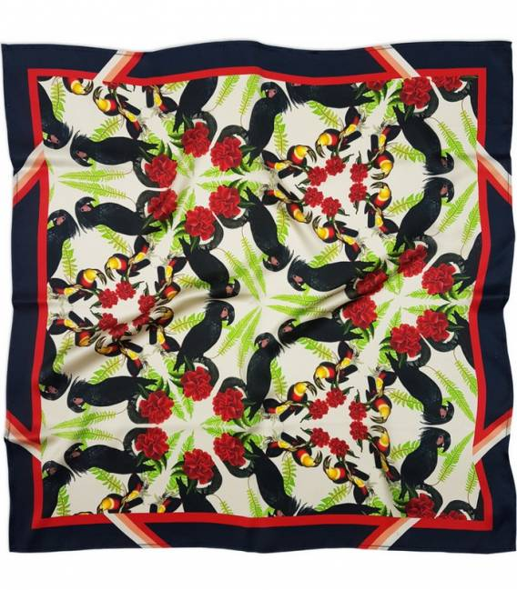 Black Cockatoos Silk scarf