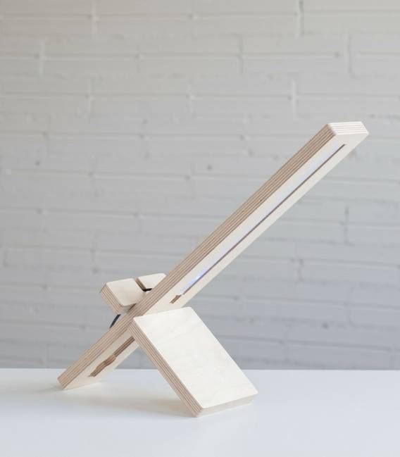 DELAMP Table or desk Lamp in Birch wood and Led