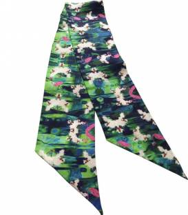 FLAMINGOS twilly silk scarf
