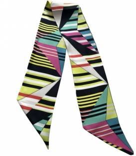 ABSTRACT silk twilly scarf