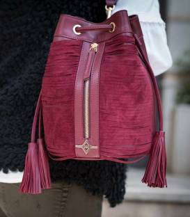 ALFIE Burgundy Bucket bag