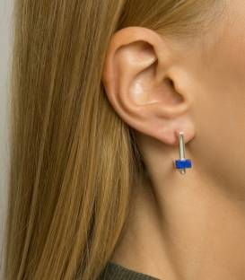 QUADRATO earrings silver – Lapis Lazuli stone
