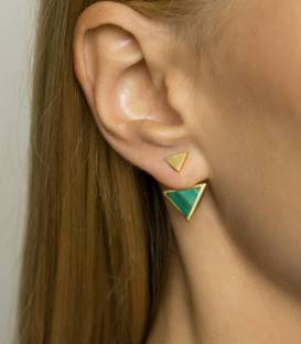 TRIANGOLO Ear cuff gold