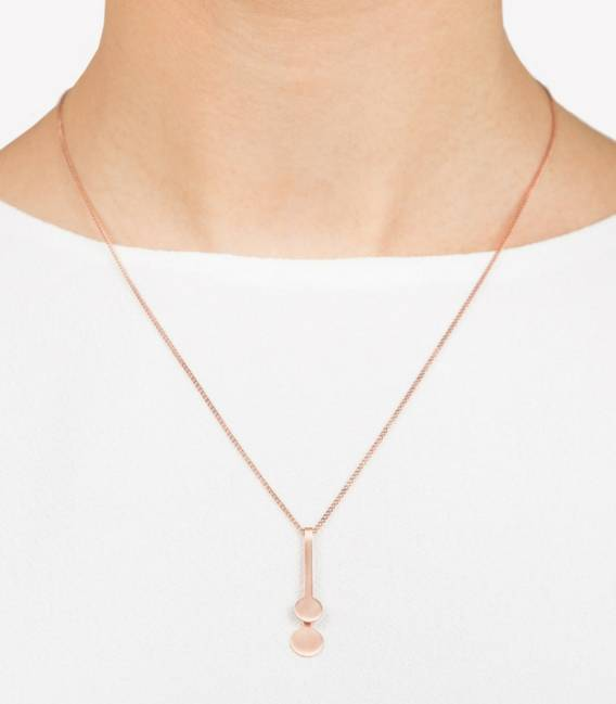 MIRA Necklace 2R Rose gold