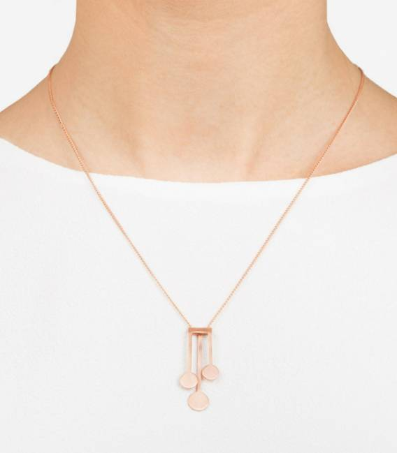Collier MIRA 3R Rose gold