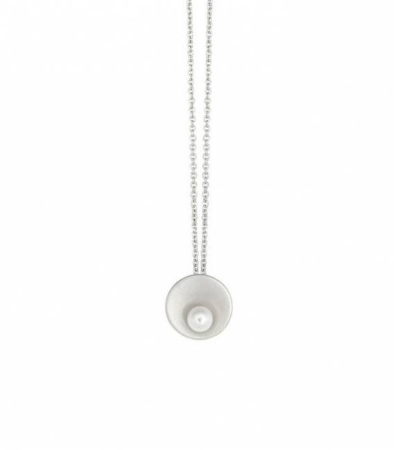 Shell & Pearl necklace Silver