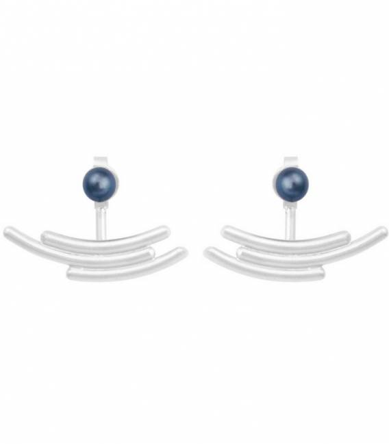 MOUJ Earrings Silver – Peacock pearl