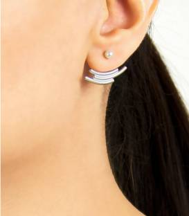 MOUJ Earrings silver – White pearl