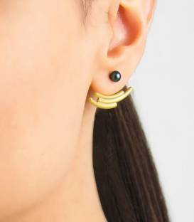 MOUJ Earrings gold plated – Peacock pearl