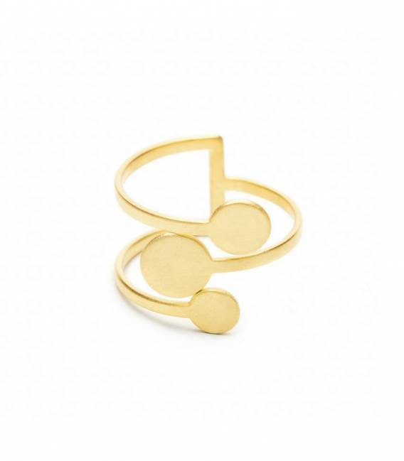 MIRA ring 3G gold plated