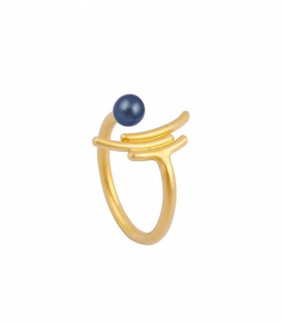 MOUJ ring gold plated – Peacock pearl
