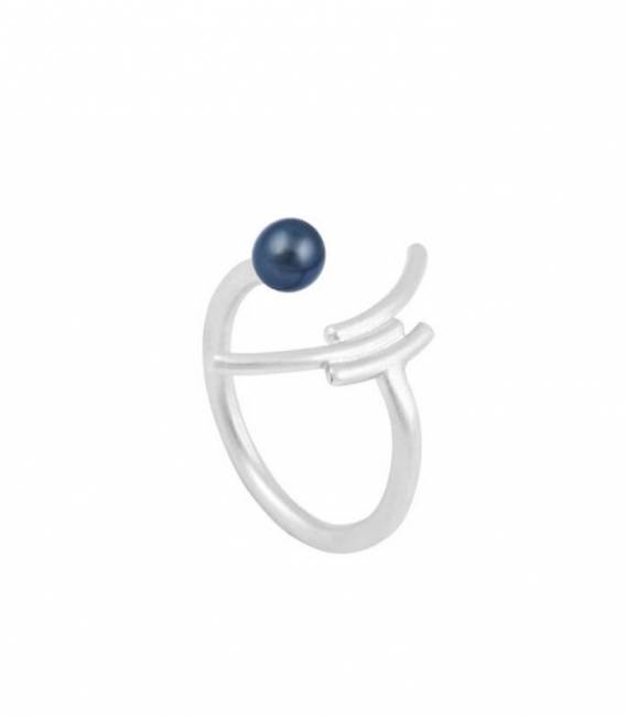 MOUJ ring Silver – Peacock pearl