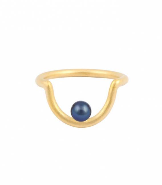 TAK MOUJ ring gold – Peacock pearl