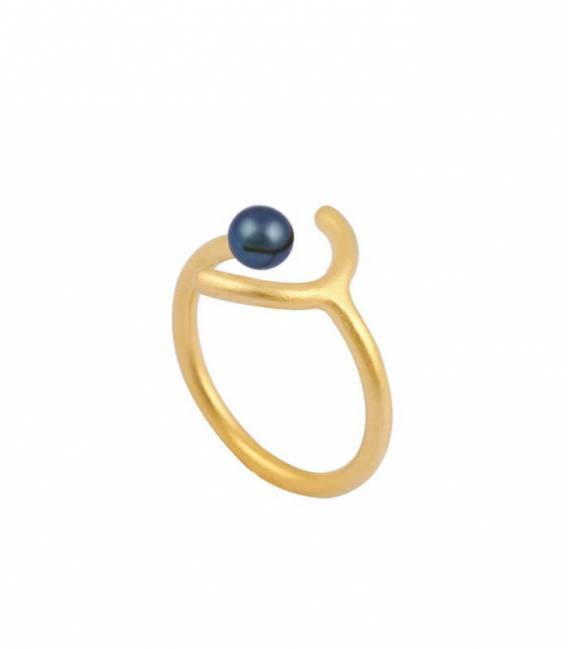 SOLO MOUJ ring gold – Peacock pearl