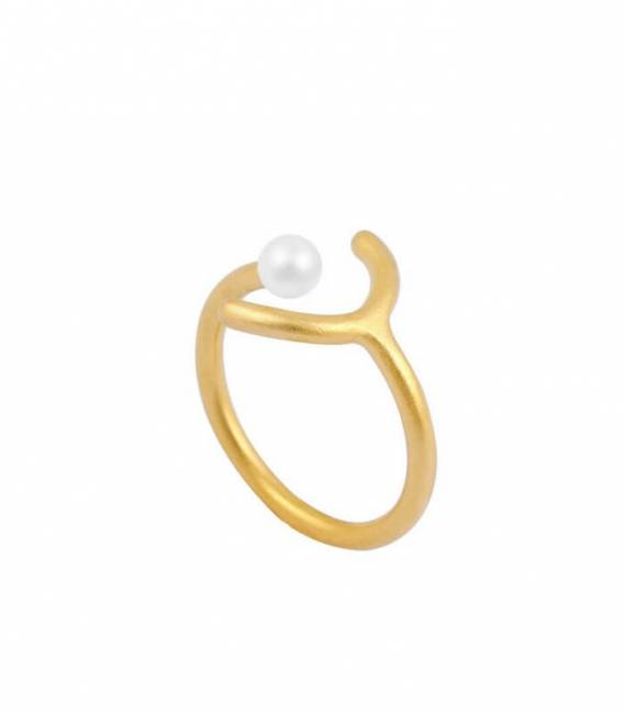 SOLO MOUJ ring gold – White pearl