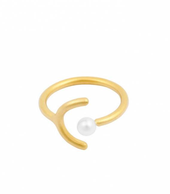 Bague SOLO MOUJ or – Perle blanche