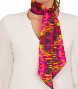 PINK silk twilly scarf