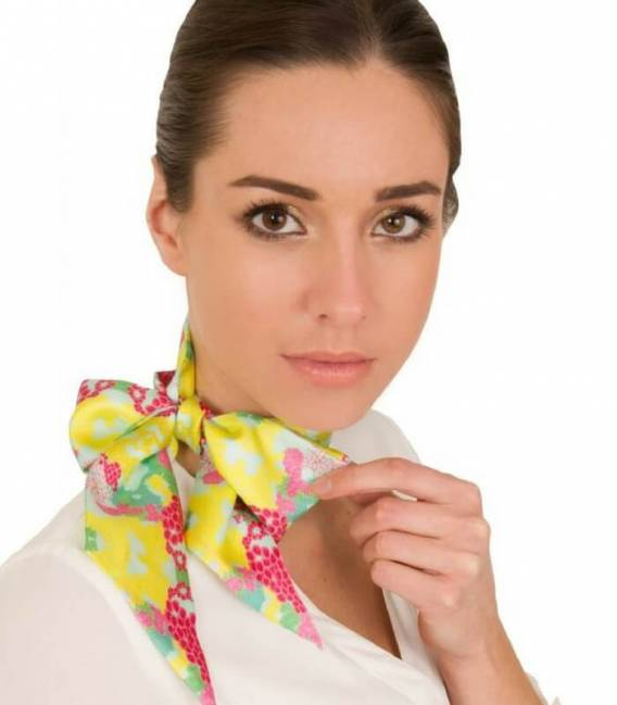 FLORAL silk twilly scarf