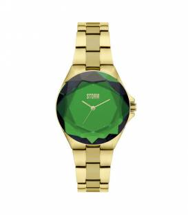 CRYSTANA Gold Green Watch