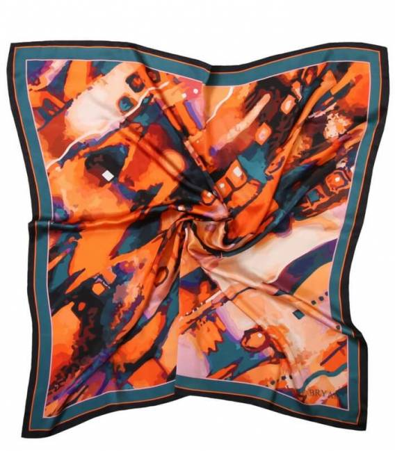ORANGE Neckerchief silk scarf