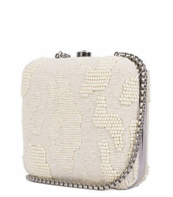 ABSTRACT Beaded Minaudiere