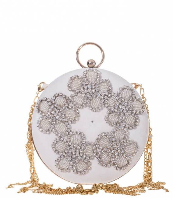 White LINDA Clutch