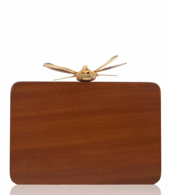 Minaudière WOODEN DRAGONFLY