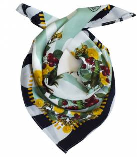 Foulard en soie LOBSTER GREEN