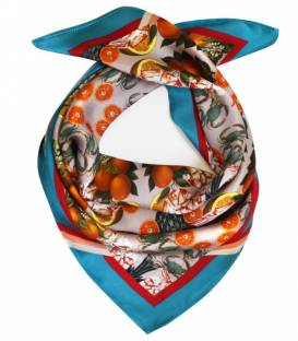PINEAPPLE & PRAWNS Silk scarf