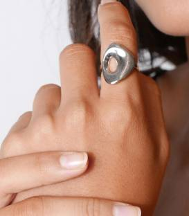 Bague HALO Silver
