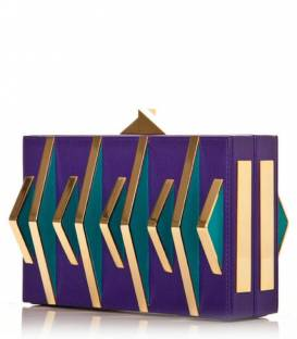 Purple/Turquoise JUDD T Clutch bag