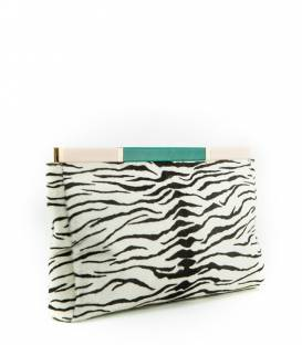 Zebra Leather Clutch