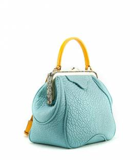 Leather Bag Light Blue