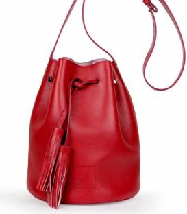 SCARLET Red Bucket Bag