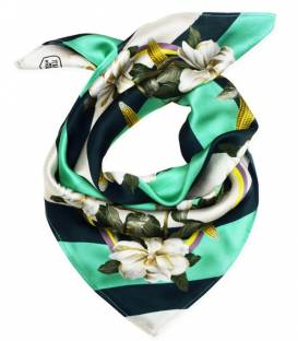 MAGNOLIA & CORN GREEN Silk Scarf