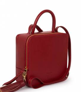 Burgundy SQUARE Bag