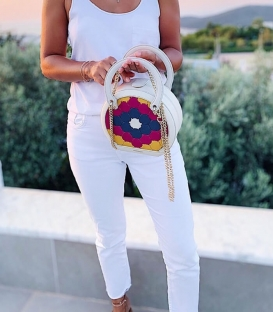 HALIDE Circle Bag White