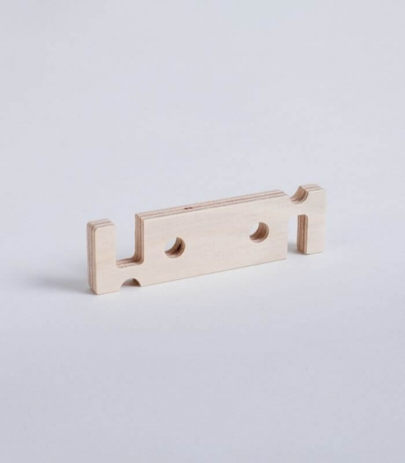 DEHOOK Cell phone or tablet stand in birch wood