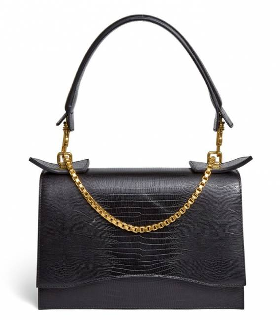 Bag Diavolino XL black Reptile print