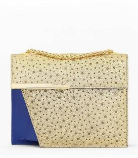 THE CUT Bag Gold & Blue