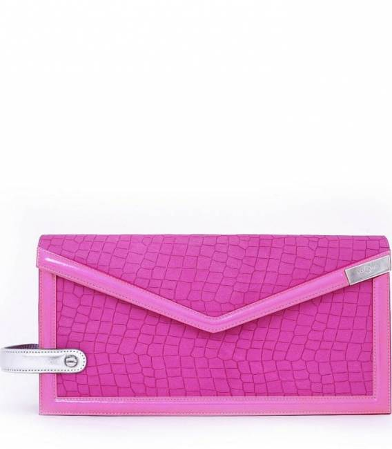 THE TRIAD Pink clutch