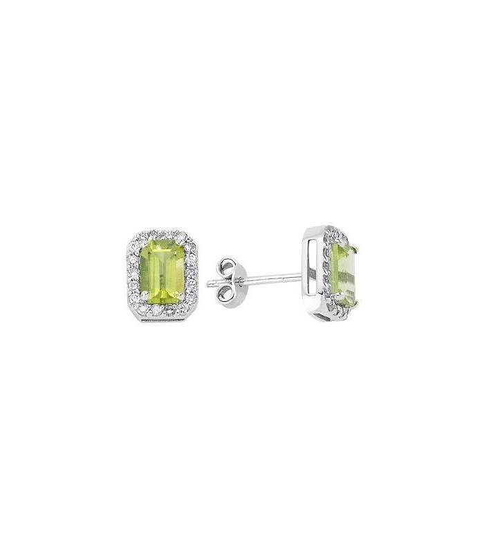 stud x earrings image gemstone peridot jewellery round gold yellow
