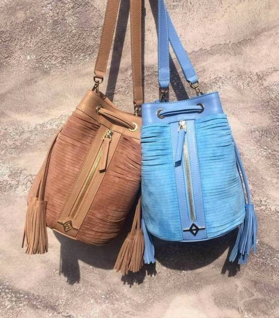 ALFIE Baby blue Bucket bag