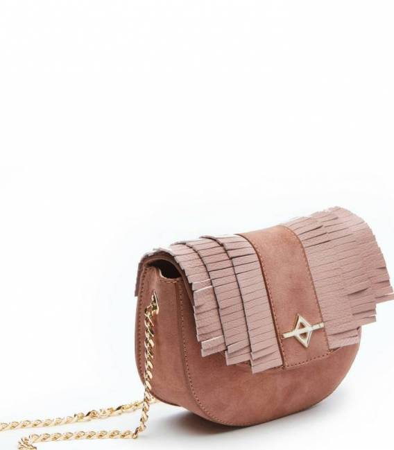 LUNA Powder suede Crossbody bag