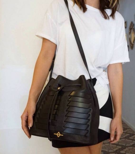 MUNI Black Bucket bag