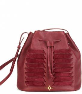 MUNI Burgundy Bucket bag