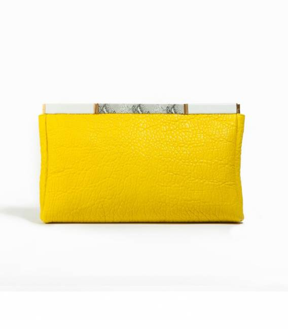 Big Leather Clucth Yellow