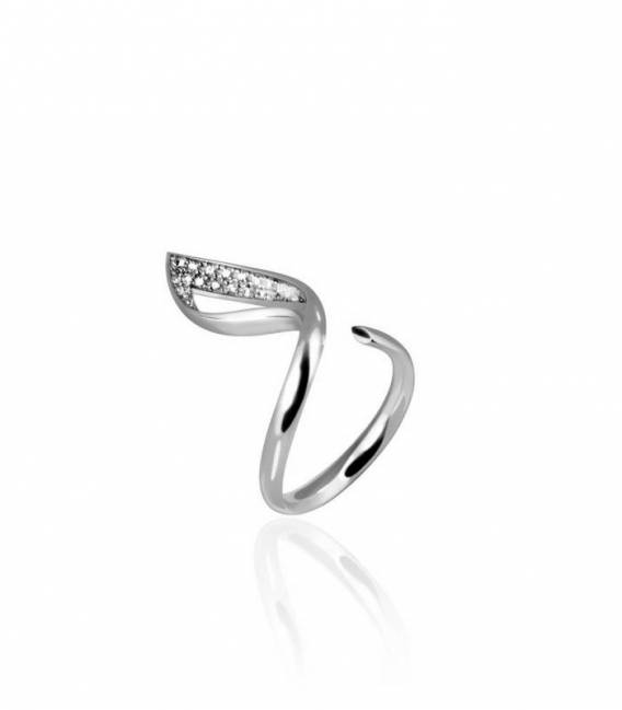 Silver Solo Luce Ring